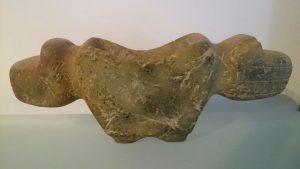 Mortero Zoomorfo Bicéfalo de cultura valdivia